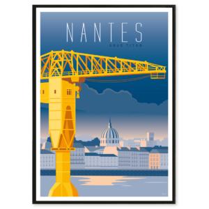 illustration Nantes - grue jaune