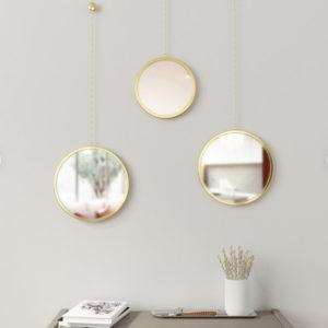Lot de 3 miroirs ronds design