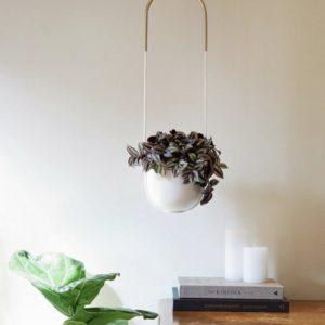 Support plante à fixer au plafond ou au mur design et moderne