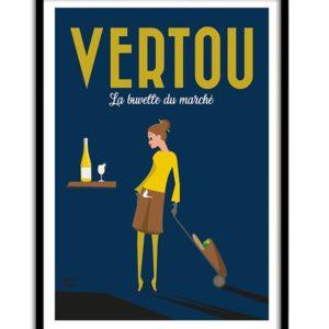illustration Vertou, la buvette du marché