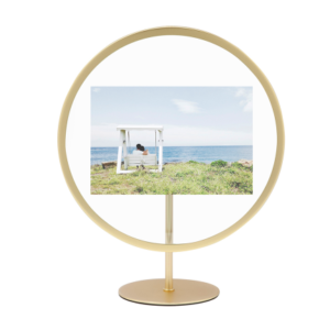Cadre Rond Infinity doré pour Photo 10 x 15 cm Umbra