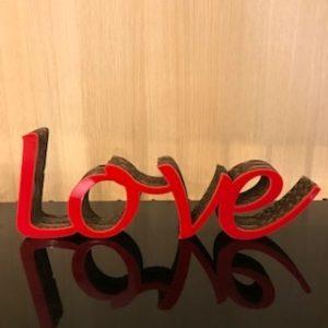 Mot carton love rouge