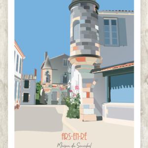 Affiche Ars en Ré - il de Ré-Demeure-du-Senechal-1- authentik design
