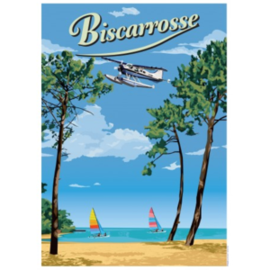Affiche Biscarosse - Landes - Authentik design