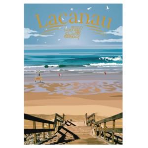 Affiche Lacanau - Les landes - Authentik design