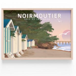 Affiche Noirmoutier - Bois de la chaise - Vendée - Authentik Design