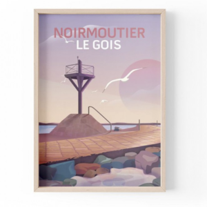 Affiche Noirmoutier - Le Gois - Vendée - Authentik Design