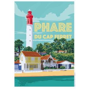 Affiche Phare du Cap Ferret - Bassin d'Arcachon - Authentik design