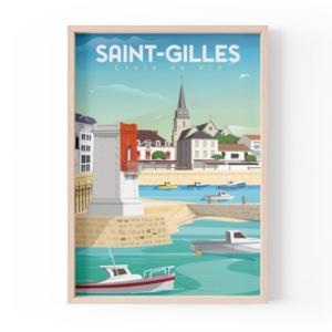 Affiche Saint Gilles Croix de Vie - Vendée - Authentik design