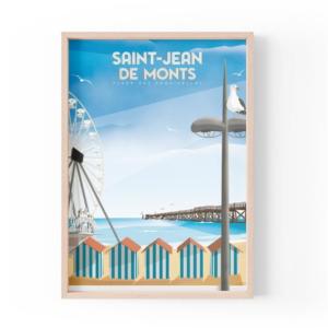 Affiche Saint Jean de Monts - Vendée - Authentik Design