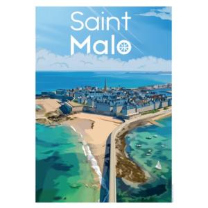 Affiche Saint Malo - Bretagne - Authentik Design