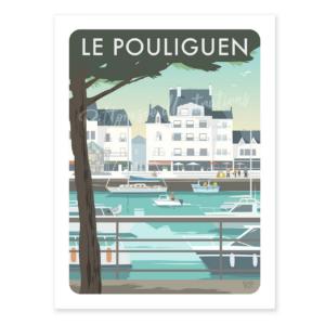 Affiche le Pouliguen - Bretagne - Authentik Design