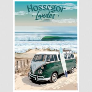 Affiches Hossegor - Les Landes - Authentik design