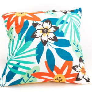 Coussin bali feuillage tropical coloré - authentik design