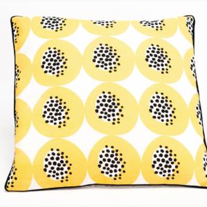 Coussin limonade - fruit du dragon jaune - authentik design