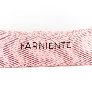 Coussin rectangle farniente blanc à poids rouge - authentik design