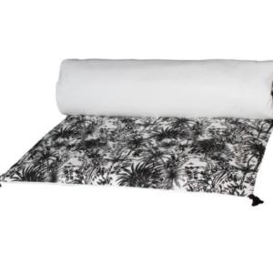 Housse d'édredon mahe noir et blanc - authentik design