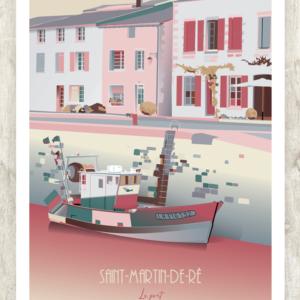 Affiche-Saint-Martin-de-Re-Authentik design