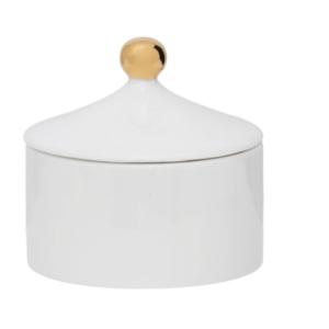 Sucrier en porcelaine blanc Boutique Authentik design Vertou