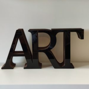 decoration art en carton recyclé noir - authentik design
