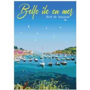 Affiche Belle ile en Mer - Bretagne - Authentik design