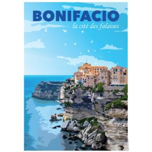 Affiche Bonifacio - Corse - Authentik Design