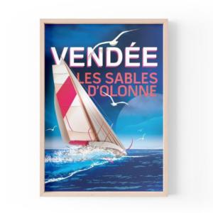 Affiche Vendée Globe - Les Sables d'Olonnes - Authentik Design