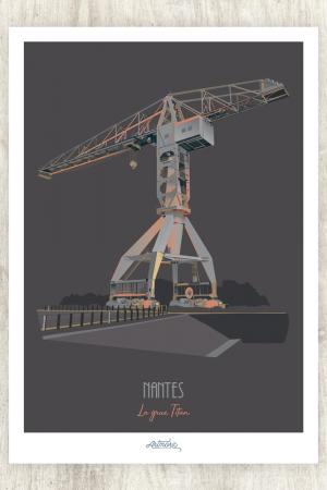 affiche Nantes Grue Titan
