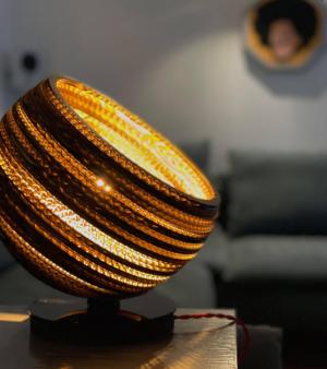 lampe à poser carton authentik design 3