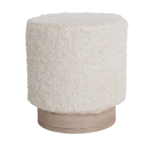 pouf mouton blanc authentik design